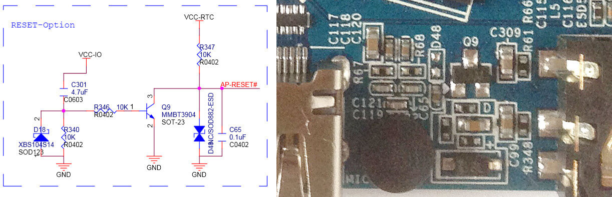 Orange Pi PC 2 Reset Option Schematic/PCB